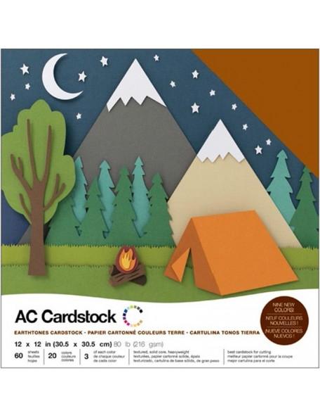 """American Crafts Earthtones Variedad de Cardstock 12""""x12"""""""