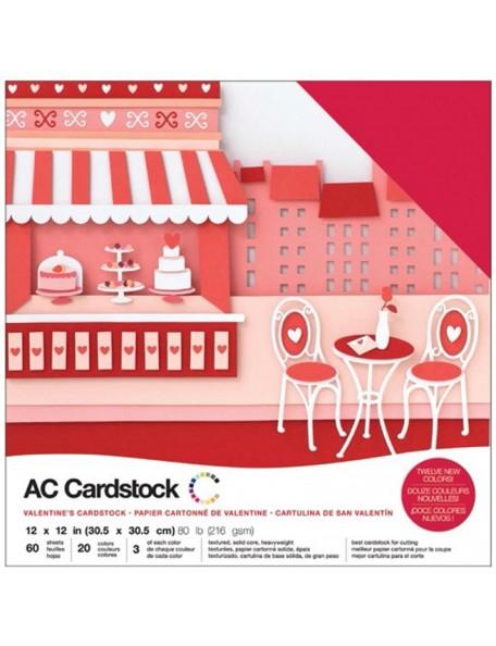 """American Crafts - Valentines Variedad de Cardstock 12""""x12"""""""