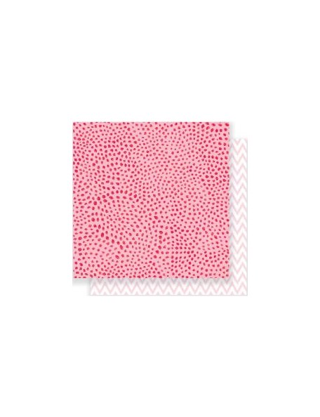 "Crate Paper Heart Day Cardstock de doble cara 12""x12"" Dreamy"