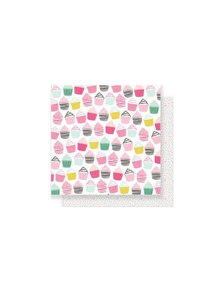 "Crate Paper Heart Day Cardstock de doble cara 12""x12"" So Sweet"