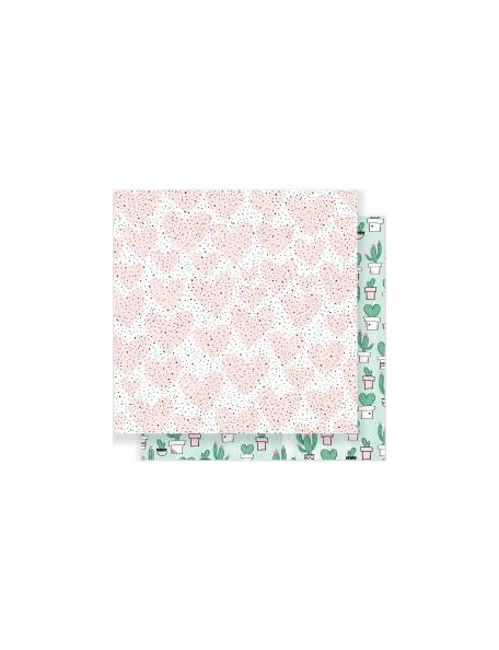 "Crate Paper - Heart Day Cardstock de doble cara 12""x12"" My Love"