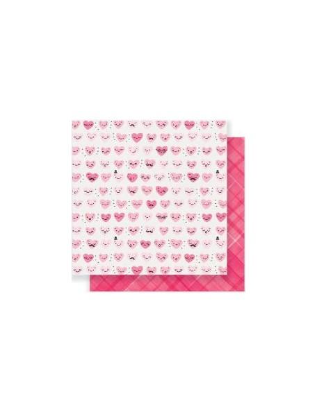 """Crate Paper Heart Day Cardstock de doble cara 12""""x12"""" Happy Heart"""