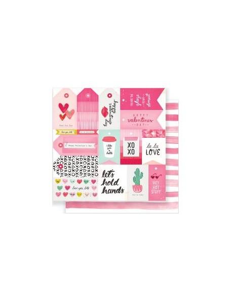 "Crate Paper - Heart Day Cardstock de doble cara 12""x12"" La La Love"