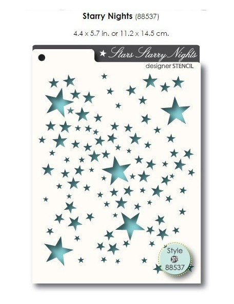 Memory Box Stars Starry Nights Stencil