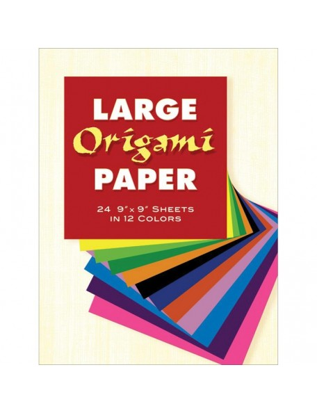 "Dover Large Origami Paper 9""X9"" 24 Assorted Colors"