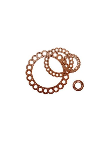 Spellbinder - Beaded Circles Troquel Nestabilities