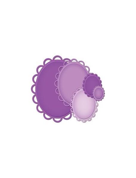 Spellbinder - Lacey Ovals Troquel Nestabilities