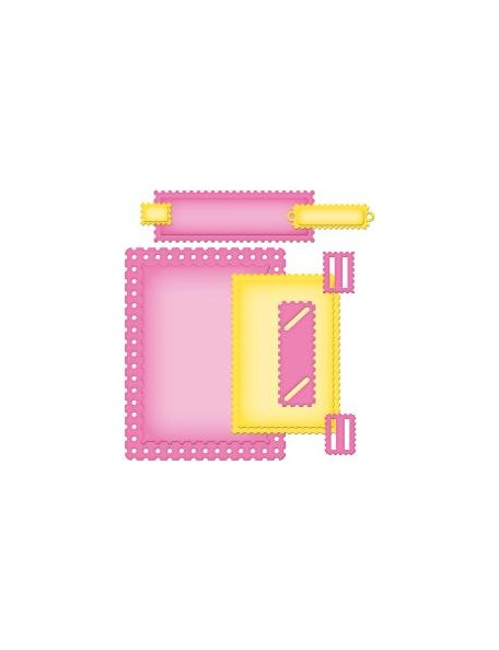 Spellbinder - Fancy Postage Stamps A2 Card Creator Troquel Nestabilities