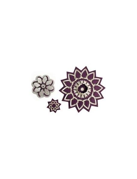 Spellbinder - Flower Burst corta, dobla & pliega Troquel Shapeabilities