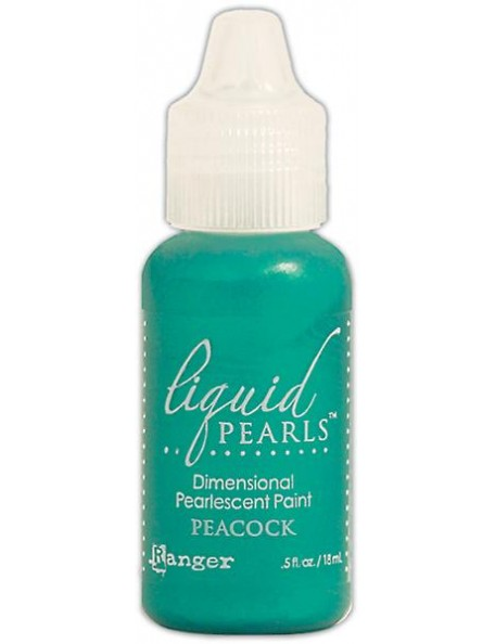 Ranger Liquid Pearl Dimensional Pearlescent Paint ,5oz, Peacock
