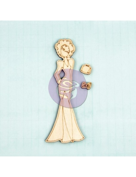 Prima Marketing Julie Nutting Mixed Media Laser-Cut Wooden Doll Shape Morgan 3