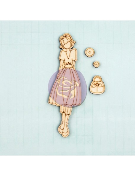 Prima Marketing Julie Nutting Mixed Media Laser-Cut Wooden Doll Shape Naomi 4