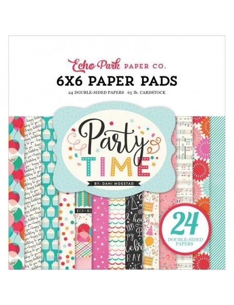 """Echo Park - Party Time Paper Pad 6""""x6"""""""