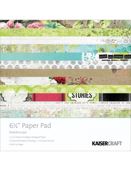 "Kaisercraft Paper Pad single side 6.5""X6.5"" 40, Kaleidoscope"