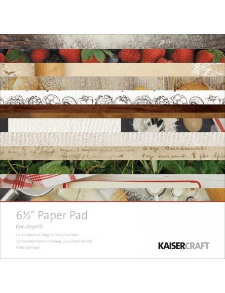 "Kaisercraft Paper Pad 6.5""X6.5"" 40, Bon Appetit"