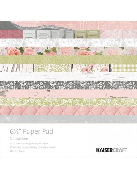 "Kaisercraft - Cottag Rose Paper Pad 6,5""x6,5"""