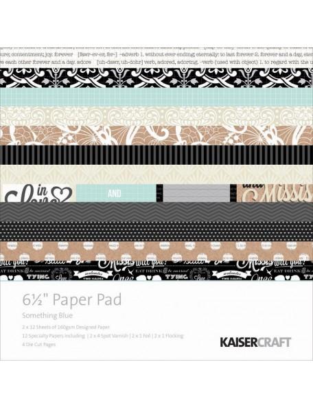"Kaisercraft Paper Pad cardstock de una cara 6.5""X6.5"" 40, Something Blue"