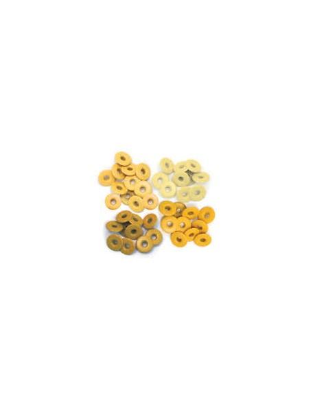 We R Memory Keepers Tonos Amarillos Eyelets/Ojales anchos, 10 de cada color total 40