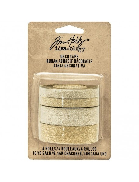 Tim Holtz Idea-Ology Design Tape 10Yd 4 Silver & Gold