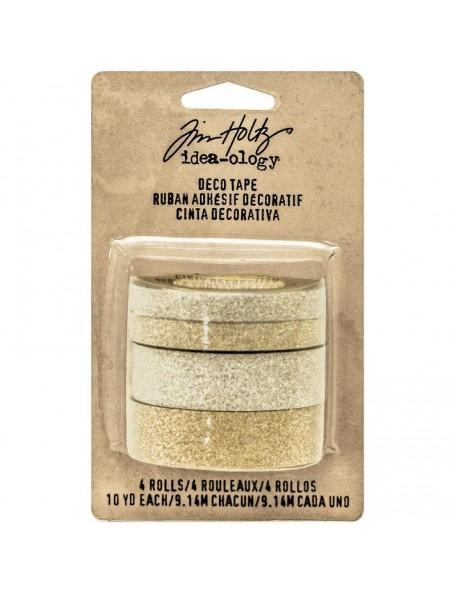 Tim Holtz Idea-Ology Design Tape 10Yd 4 Silver & Gold