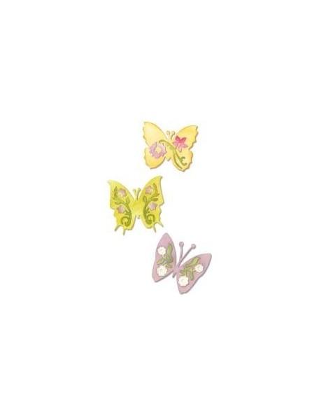 "Sizzix Sizzlits Die Set 3 3.75""X2.5"" Butterfly -Descatalogado!-"