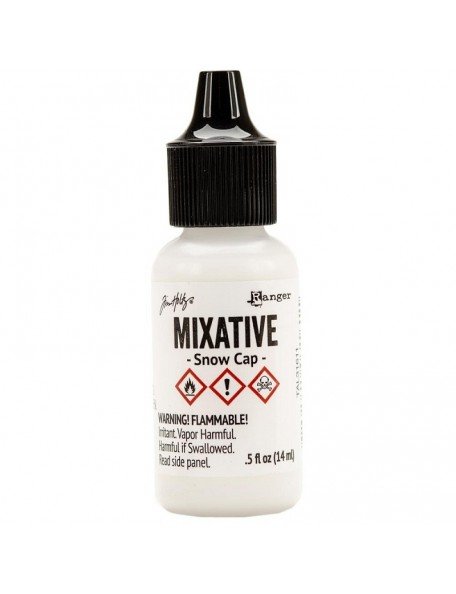 Tim Holtz Alcohol Ink Metallic Mixatives, Snow Cap