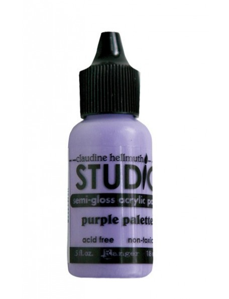 Claudine Hellmuth - Ranger Studio Semi Gloss Acrylic Paint Purple Palette