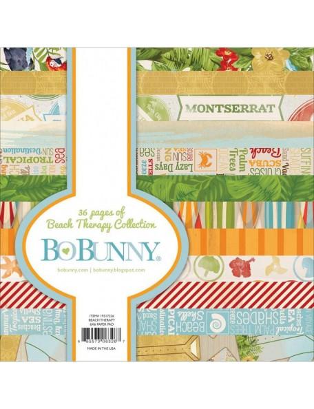 """BoBunny Paper Pad cardstock de una cara 6""""X6"""" 36, Beach Therapy, 12 diseños/3 de cada"""