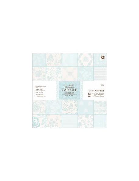 "Docrafts Papermania - Eau de Nil Paper Pad 6""x6"" Cardstock de una cara"