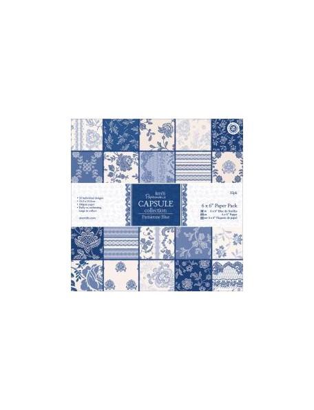 "Docrafts Papermania - Parisienne Blue Paper Pad 6""x6"" Cardstock de una cara"