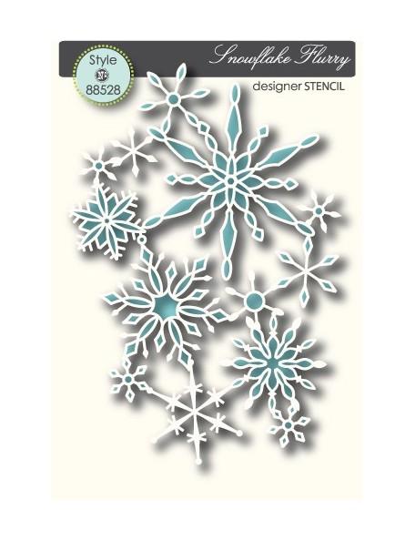 Memory Box Snowflake Flurry Plantilla