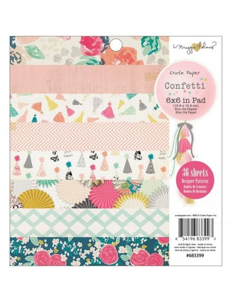 "Crate Paper - Maggie Holmes Confetti Paper Pad 6""X6"" 36"
