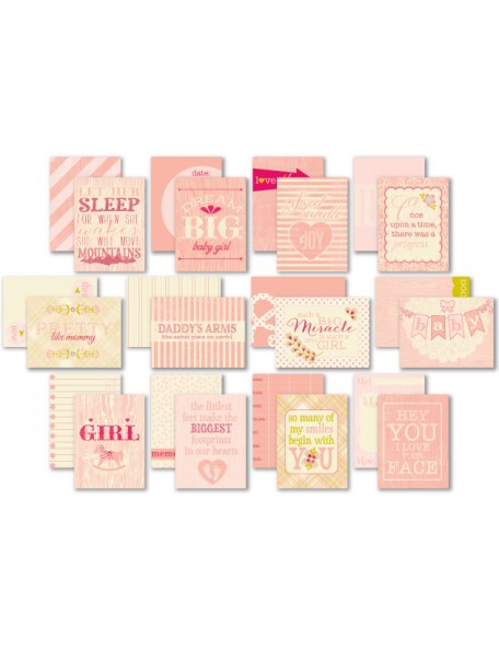 "Authentique Cuddle Girl Pocket Crafting & Journaling 3""X4"" Cards"