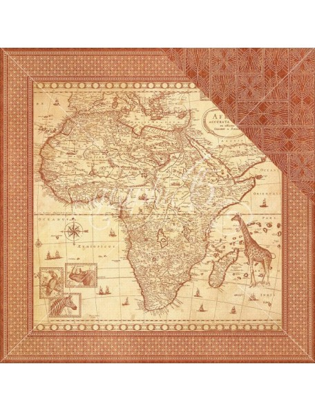 "Graphic 45 - Safari Adventure Cardstock de doble cara 12""X12"" Journey Of A Lifetime"