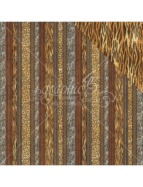 "Graphic 45 - Safari Adventure Cardstock de doble cara 12""X12"" Exotic Patterns"