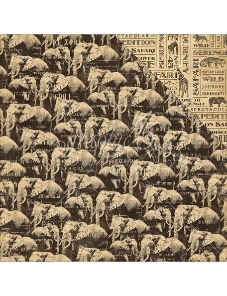 "Graphic 45 Safari Adventure Cardstock de doble cara12""X12"", Great Migration"