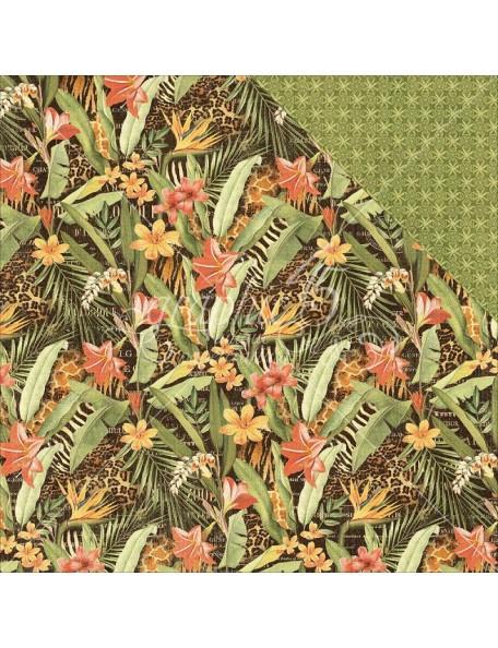 "Graphic 45 - Safari Adventure Cardstock de doble cara 12""X12"" Lush Landscape"