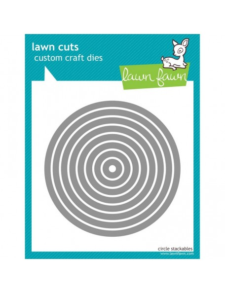 """Lawn Fawn - Circulo, .5"""" 4"""" To Custom Craft Stackables Dies"""