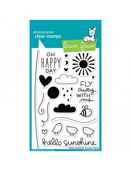 "Lawn Fawn - Hello Sunshine Clear Stamps 4""X6"""