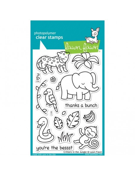 "Lawn Fawn - Critters In The Jungle Clear Stamps 4""X6"""