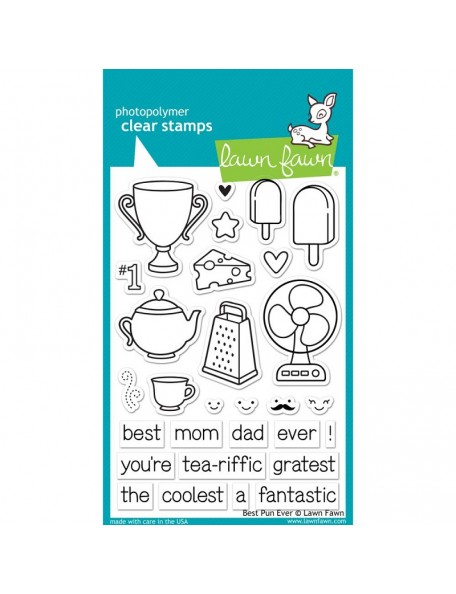 "Lawn Fawn Best Pun Eve Clear Stamps 4""X6"""