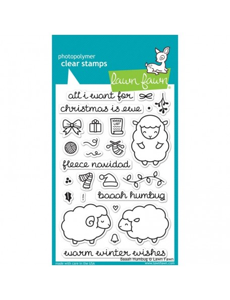 "Lawn Fawn - Baaah Humbug Clear Stamps 4""X6"""
