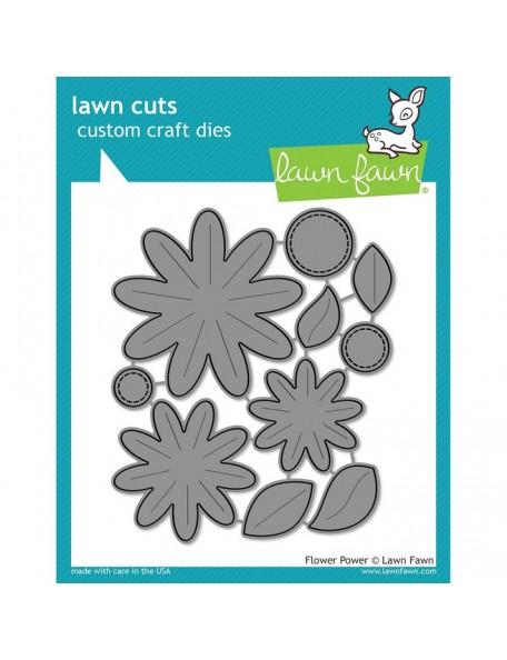 Lawn Fawn Flower Power Cuts Custom Craft Die