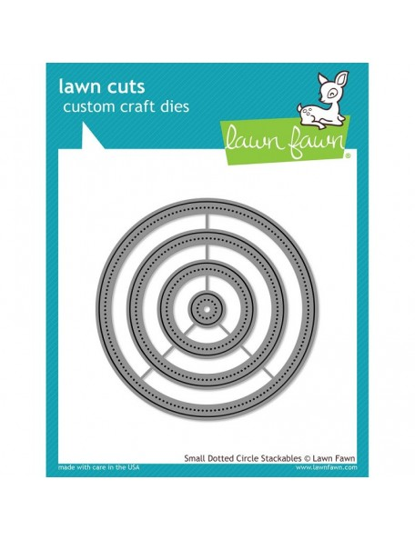 Lawn Fawn - Small Dot Circle Cuts Custom Craft Stackables Dies
