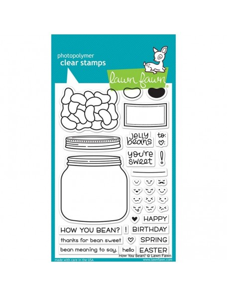 "Lawn Fawn - How You Bean? Clear Stamps 4""X6"""