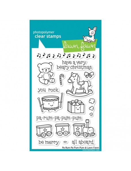 "Lawn Fawn - Pa-Rum-Pa-Pum-Pum Clear Stamps 4""X6"""
