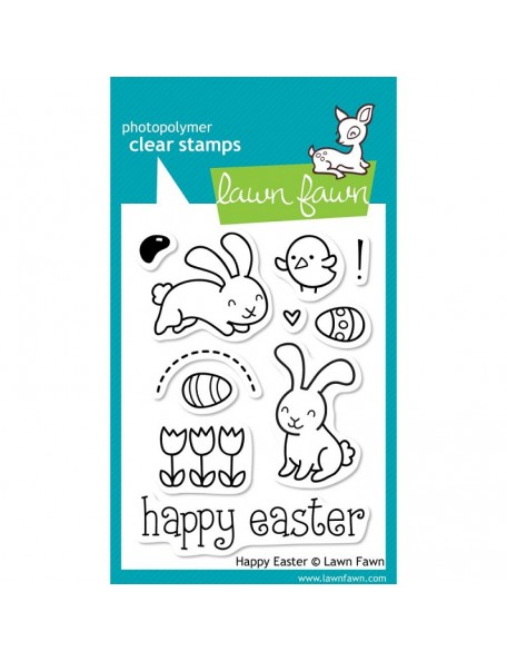 "Lawn Fawn Happy Easter Clear Stamps 3""X4"", DESCATALOGADO"