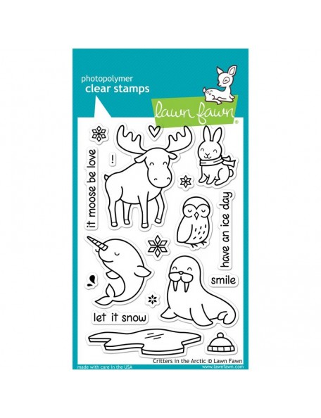 "Lawn Fawn Critters In The Arctic Clear Stamps 4""X6"""