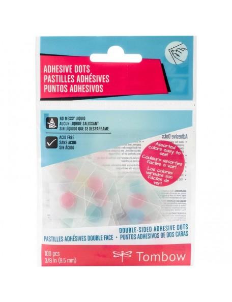 "Tombow - Adhesivo doble cara, puntos Clear Pastel .375"" 100"