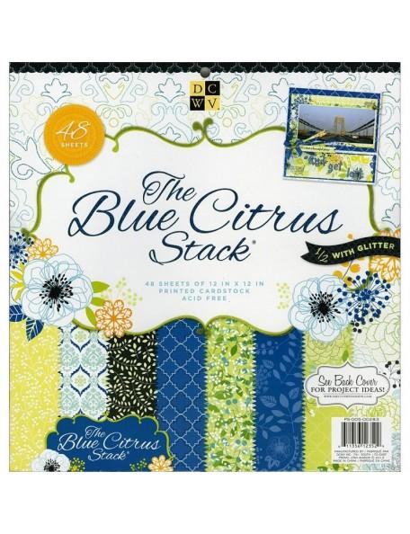 """DCWV - Blue Citrus Paper Stack 12""""X12"""" 48"""